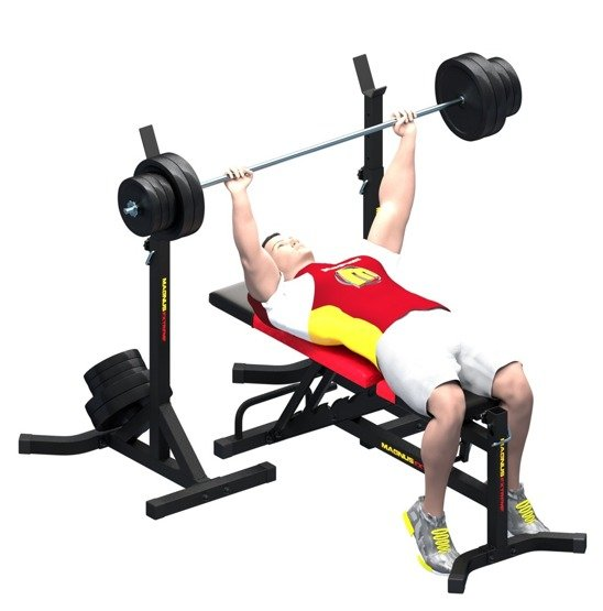 Training bench with a down slant MX2041 MAGNUS EXTREME
